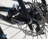 The RXC Pro Disc has Shimano CX75 mechanical disc brakes (not shown) and custom Cole carbon clinchers. ©Cyclocross Magazine