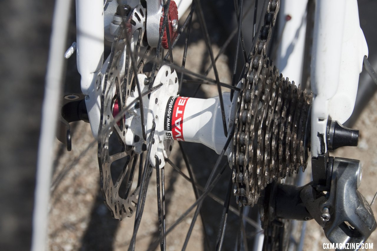 Redline sources Novatec hubs for 30mm disc-ready wheelsets. Sea Otter 2012. ©Cyclocross Magazine