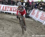 Kevin Pauwels (Sunweb-Napoleon Games) cornering through a sandy section. © Bart Hazen