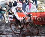 Sven Nys excelled in the mud today © Bart Hazen