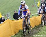 Pauline Ferrand-Prevot (Rabobank Liv/Giant) makes her way through the course. © Bart Hazen