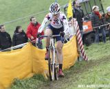 Katie Compton (Trek Cyclocross Collective) makes her way through the course. © Bart Hazen