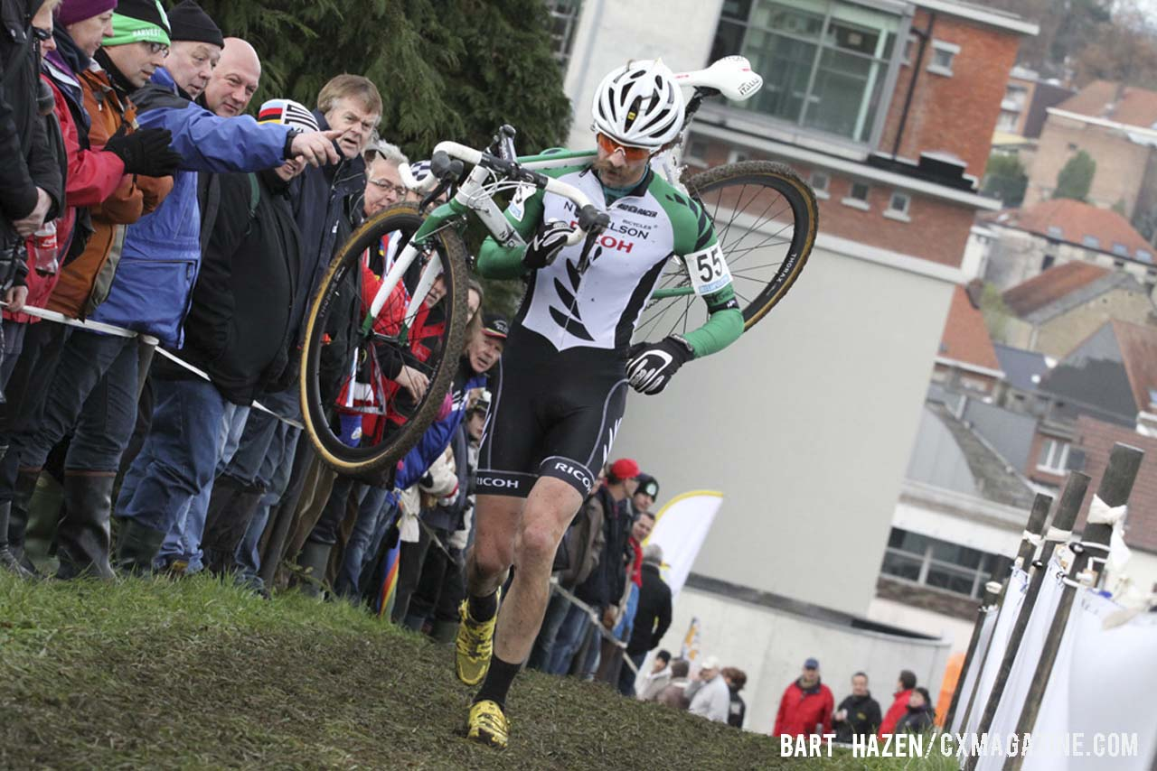 New Zeland National Champion Alexander Revell is a Belgian favorite for his racing and mustache style. © Bart Hazen