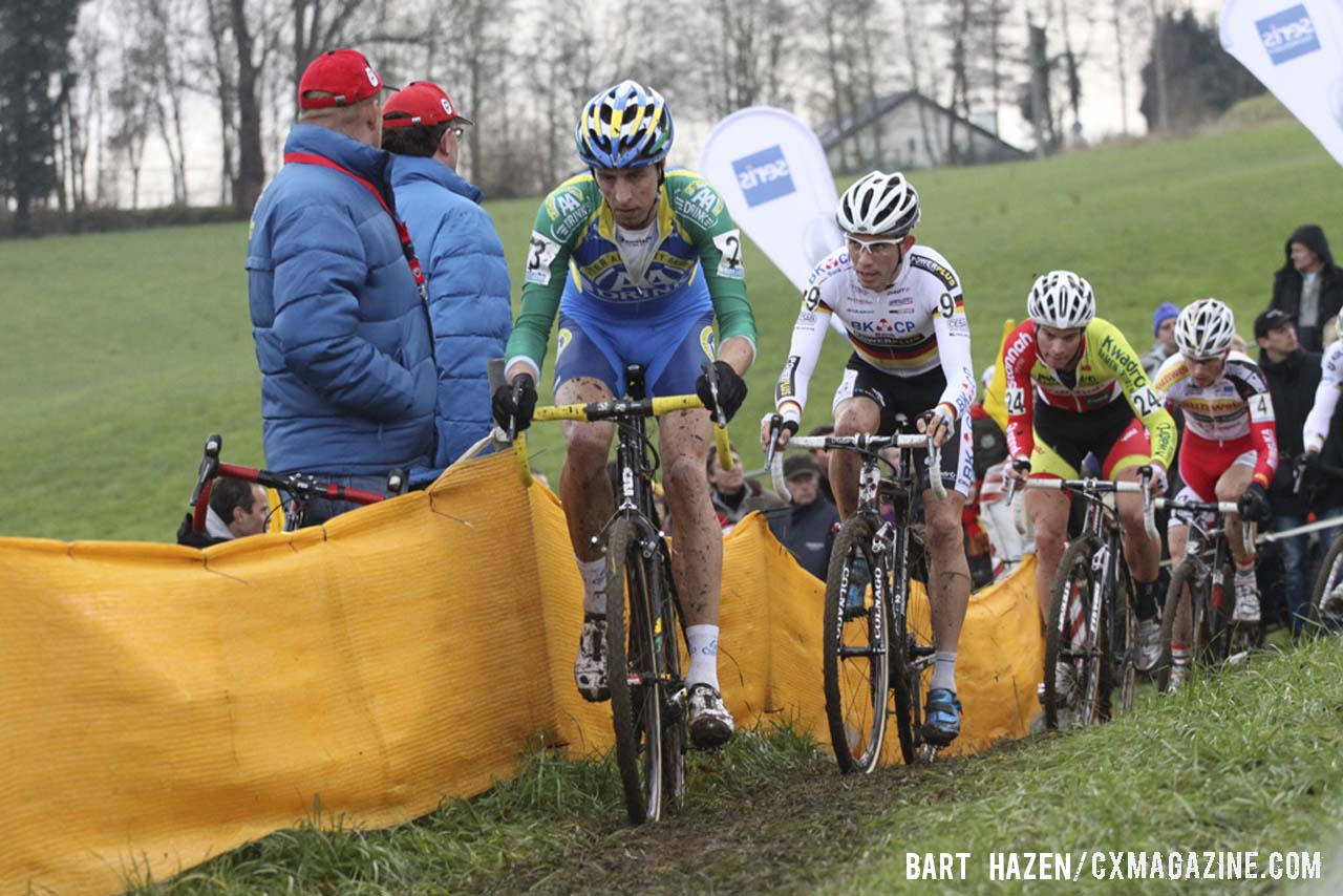 Thijs van Amerongen (AA Drink Cycling Team) leading the charge. © Bart Hazen