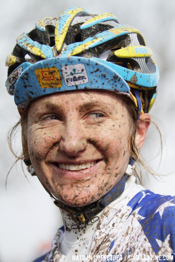 Amy Dombroski narrowly missed a top ten when she slid out on the final corner © Cyclocross Magazine