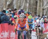 Sanne van Paassen being chased by Ellan Van Loy © Cyclocross Magazine