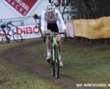 Adam Toupalik leading the Junior's race. © Bart Hazen / Cyclocross Magazine