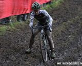Kaitlin Antonneau negotiating the off-camber mud. © Bart Hazen / Cyclocross Magazine