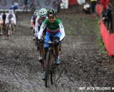 Eva Lechner leading the field. © Bart Hazen / Cyclocross Magazine