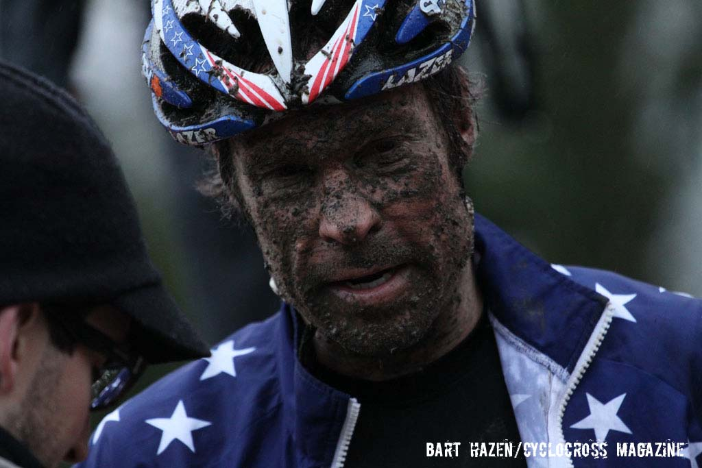 Jonathan Page\'s face says it all. © Bart Hazen / Cyclocross Magazine