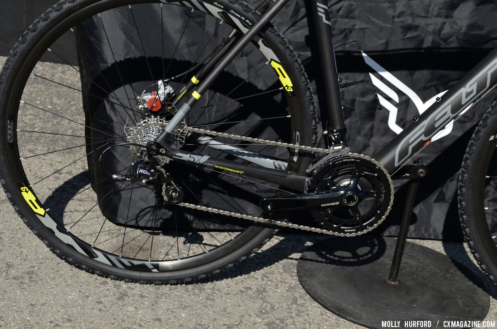 A mix of Apex and Rival on the 2014 Felt F5X at Sea Otter 2013. © Cyclocross Magazine
