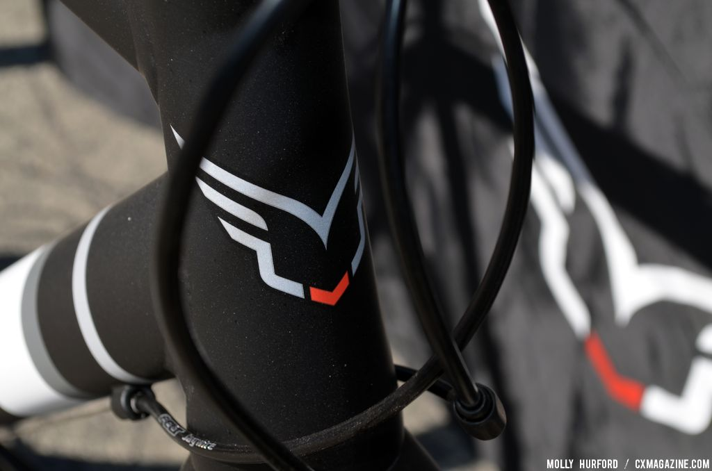 Headbadge on the 2014 Felt F65X at Sea Otter 2013. © Cyclocross Magazine