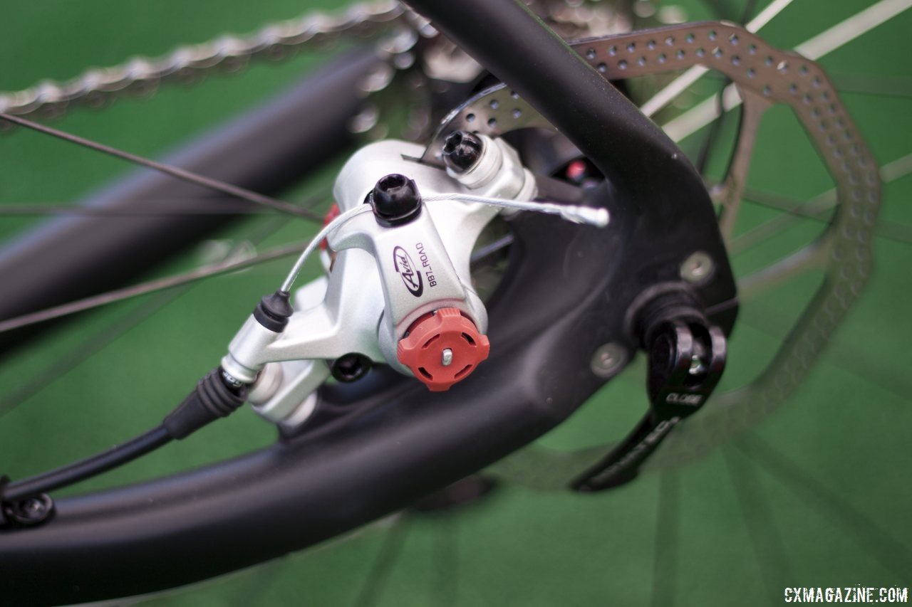 Redline Conquest Pro will feature the popular Avid BB7 mechanical disc brakes. © Cyclocross Magazine