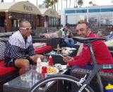 Team Malta with recovery food - Belgian style fries with mayo and ketchup. ? Jonas Bruffaerts