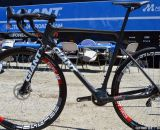 He didn't race the CX race, but his bike was there! Adam Craig's Prototype Giant TCX Advanced  Sea Otter 2013. © Clifford Le