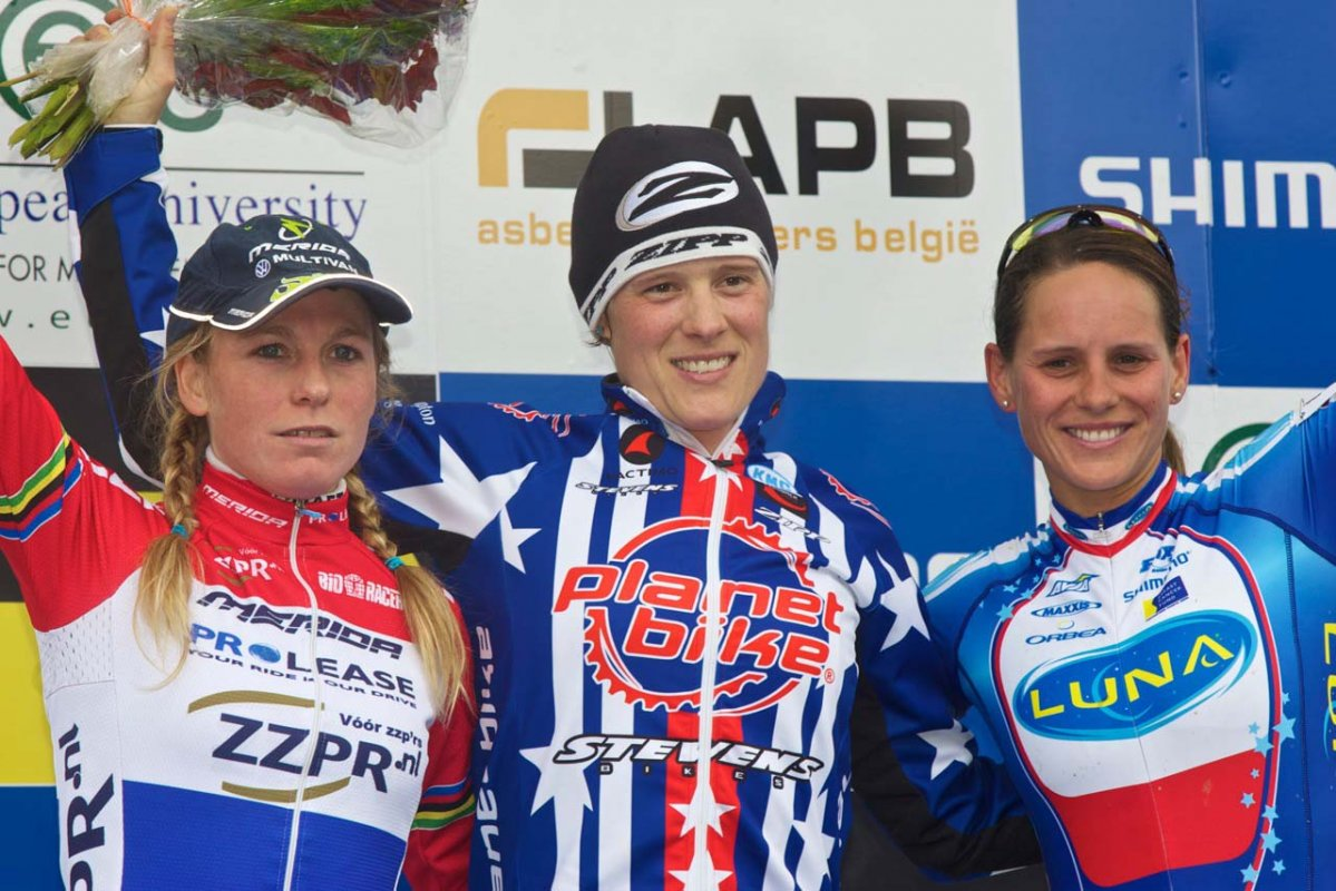 Elite women\'s podium, Aigle World Cup © Mark Legg-Compton