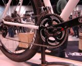 SRAM RED 2012 Compact 110BCD BB30 Crankset on the Alchemy cyclocross bike at NAHBS 2013. © Lance Barry