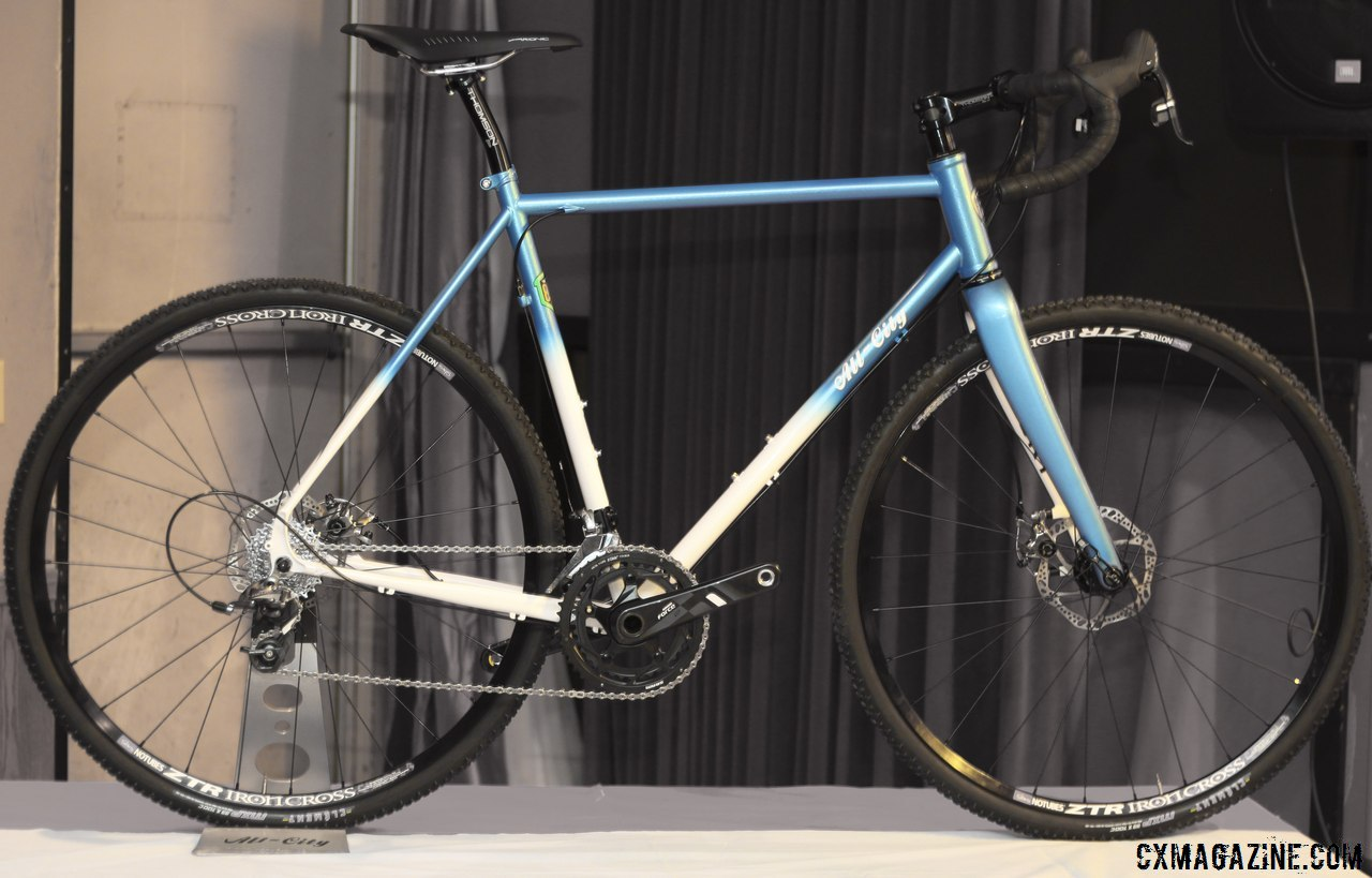 All-City Cycles\' brand new Reynolds 853 Macho King Limited, just 50 will be made, with Whisky thru-axle fork, Force 22 and likely SRAM hydraulic disc brakes, for $3500. © Cyclocross Magazine