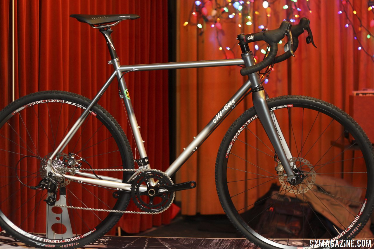All-City Cycles\' brand new Reynolds 853 Macho King will feature SRAM 11-speed components, Zipp Service Course cockpit, and Hayes CX Expert disc brakes. © Cyclocross Magazine
