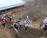 The women charge up Mt. Krumpet on the first lap © Amy Dykema