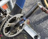 Arley Kemmerer uses a 2011 Red crankset with a standard 110mm BCD and Specialities TA 42t ring. © Cyclocross Magazine