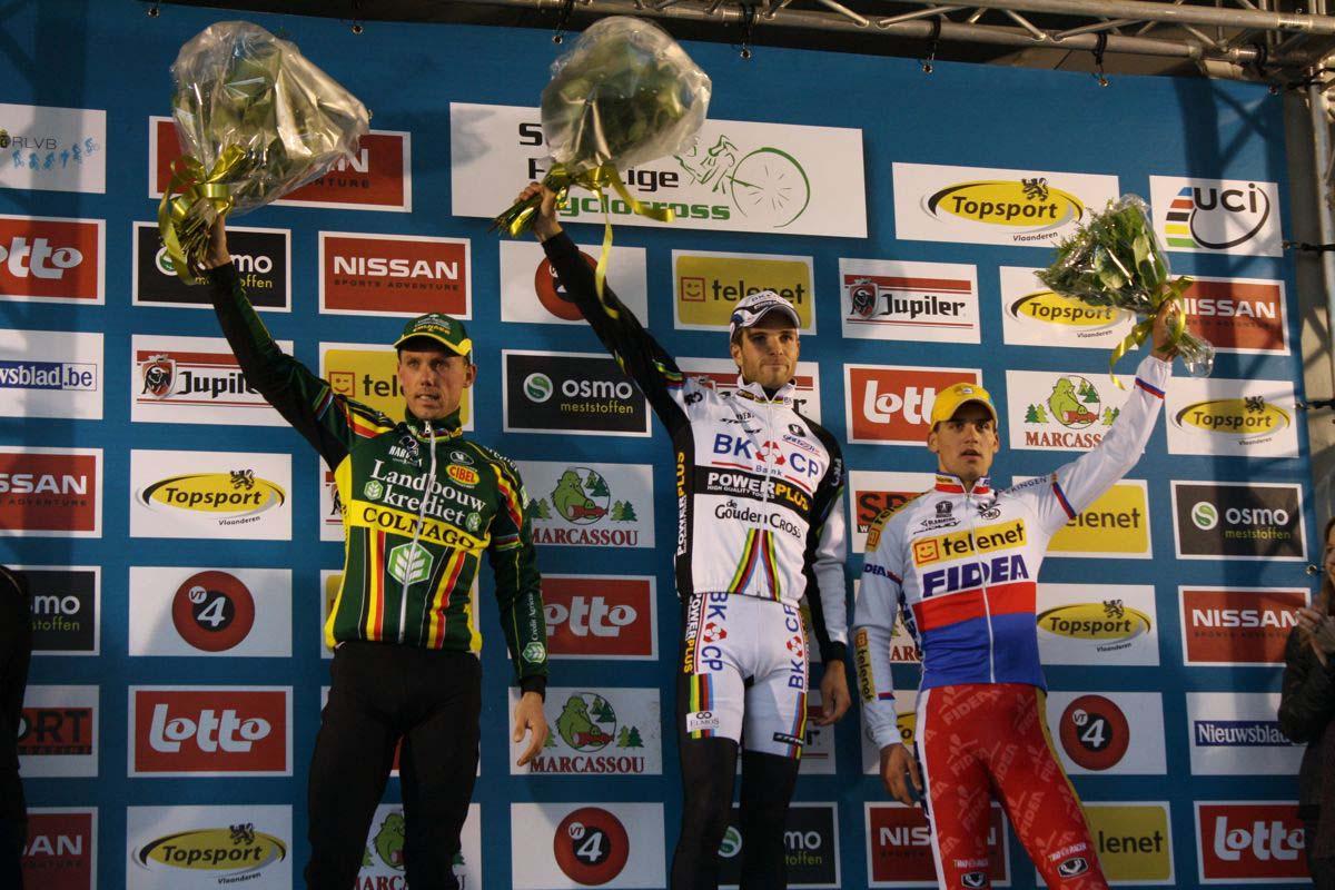 Nys, Albert and Stybar on the podium in Gavere. ? Dan Seaton