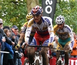 Stybar leads Vantornout and Pauwels in an early part of the race. ? Dan Seaton