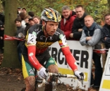 Sven Nys would work hard, but finish second after flatting. ? Dan Seaton