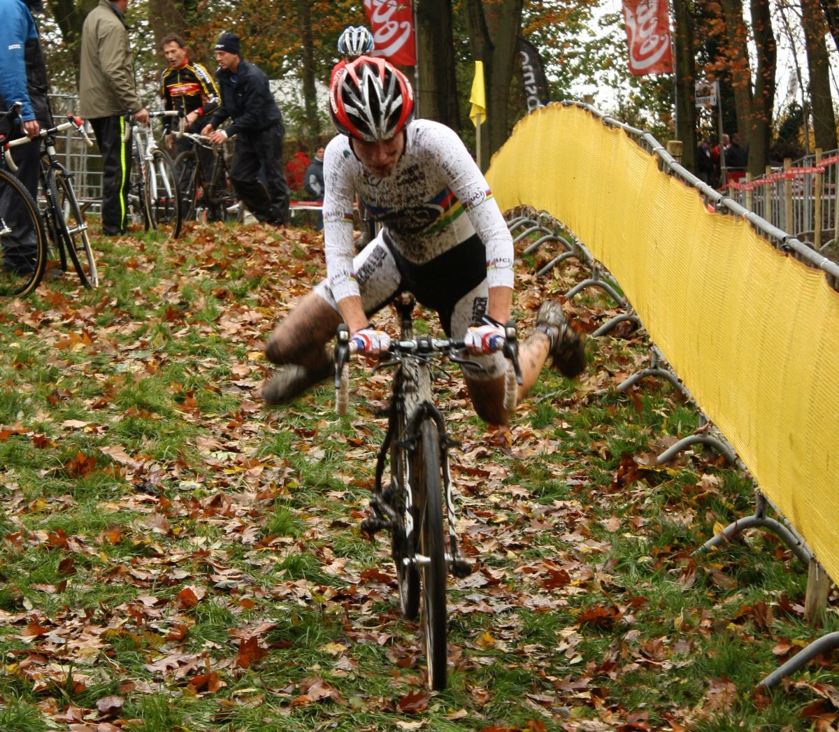 Vos remounts after a trip through the pits. ? Dan Seaton