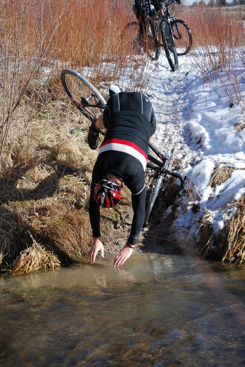 Several riders including the author took dives into the river. ? Laura Valaer
