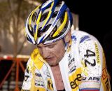Bart Wellens reflecting on his late race gamble in CrossVegas 2011 that didn't pay off. © Cyclocross Magazine