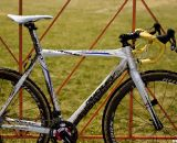 Bart Wellens' Ridley X-Night cyclocross bike as ridden at CrossVegas. The integrated seat mast makes for difficult traveling and is why Ridley's U.S. riders ride the X-Fire. © Cyclocross Magazine