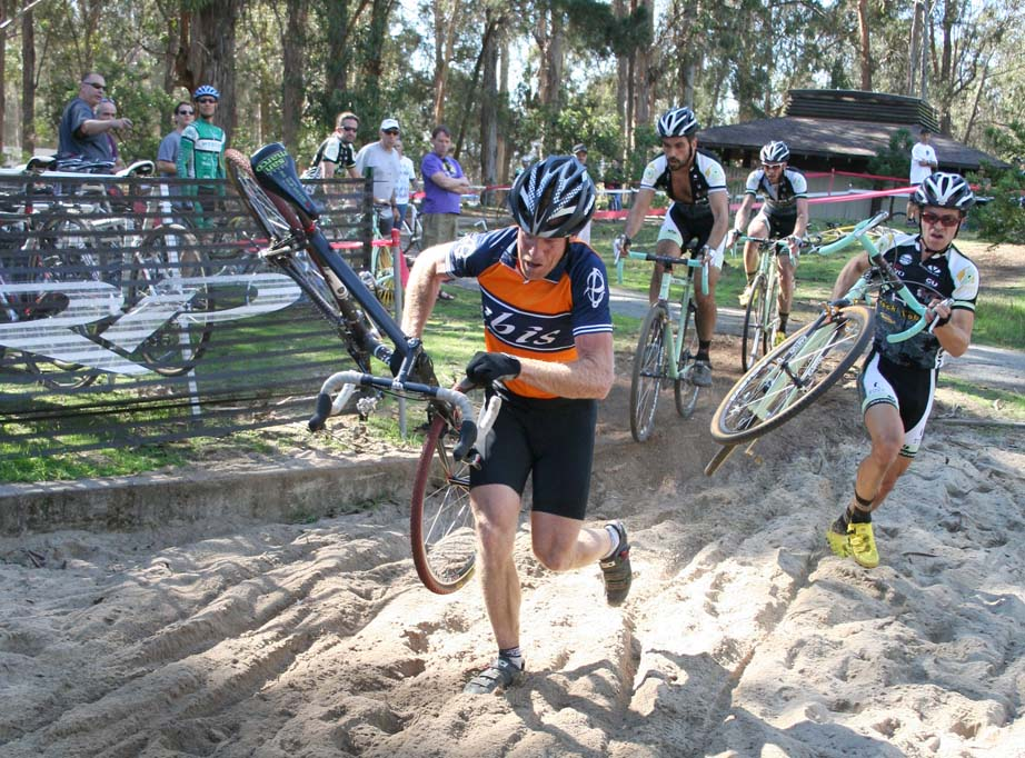Don Myrah unveils a new technique to keep the HRS / RockLobster team at bay. ?Cyclocross Magazine