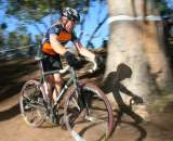 Don Myrah giving chase in his second race of the day. ?Cyclocross Magazine