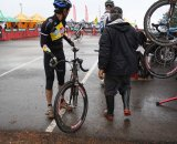 The pits were extremely busy throughout the day. Cyclocross Magazine's Andrew Yee pays his third visit to them. © Paul Guerra