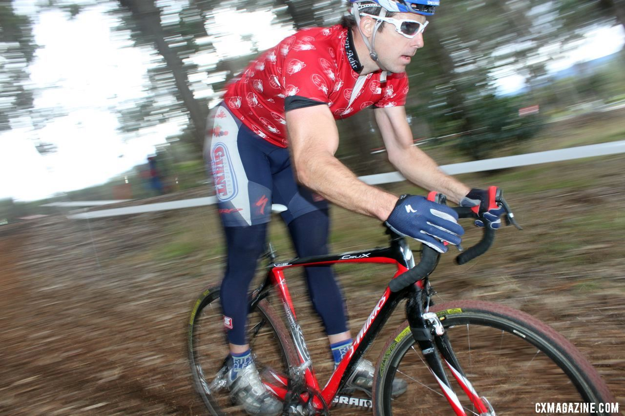 Reaney led the series and won the title. Bay Area Super Prestige 2010, Coyote Point Finals, 12/5/2010. ©
