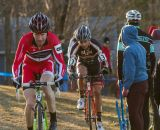 Milne and Favata battle to maintain contact with the lead group. © Todd Prekaski