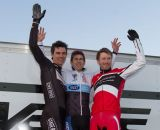 The Elite Men's podium: Milne, Garrigan, Durrin. © Todd Prekaski