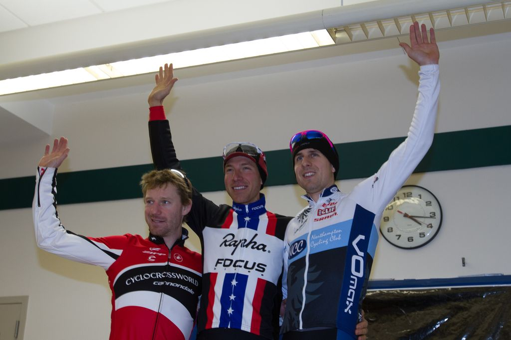 The Elite Men\'s podium: Milne, Powers, Durrin. © Todd Prekaski