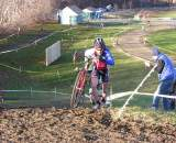 Dan Timmerman leads lap 1. Baystate Cyclocross, Day 1. ? Paul Weiss