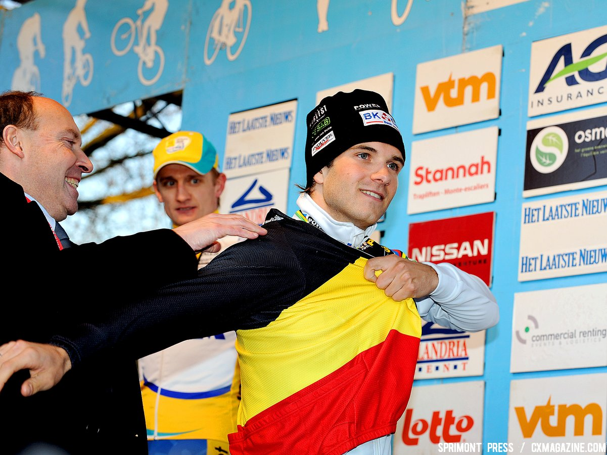 The elusive Belgian National Champion jersey if finally Albert\'s. ( SPRIMONT PRESS / Laurent Dubrule )