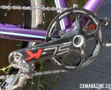 The PF BB30 crankset sports a 42-tooth single ring on the A bike, with a carbon FSA chain guard.