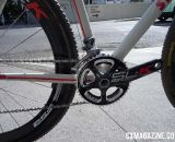 FSA SL-K carbon cranks adorn both bikes. Berden opts for a compact 46/36 double ring on his training and pit bike.
