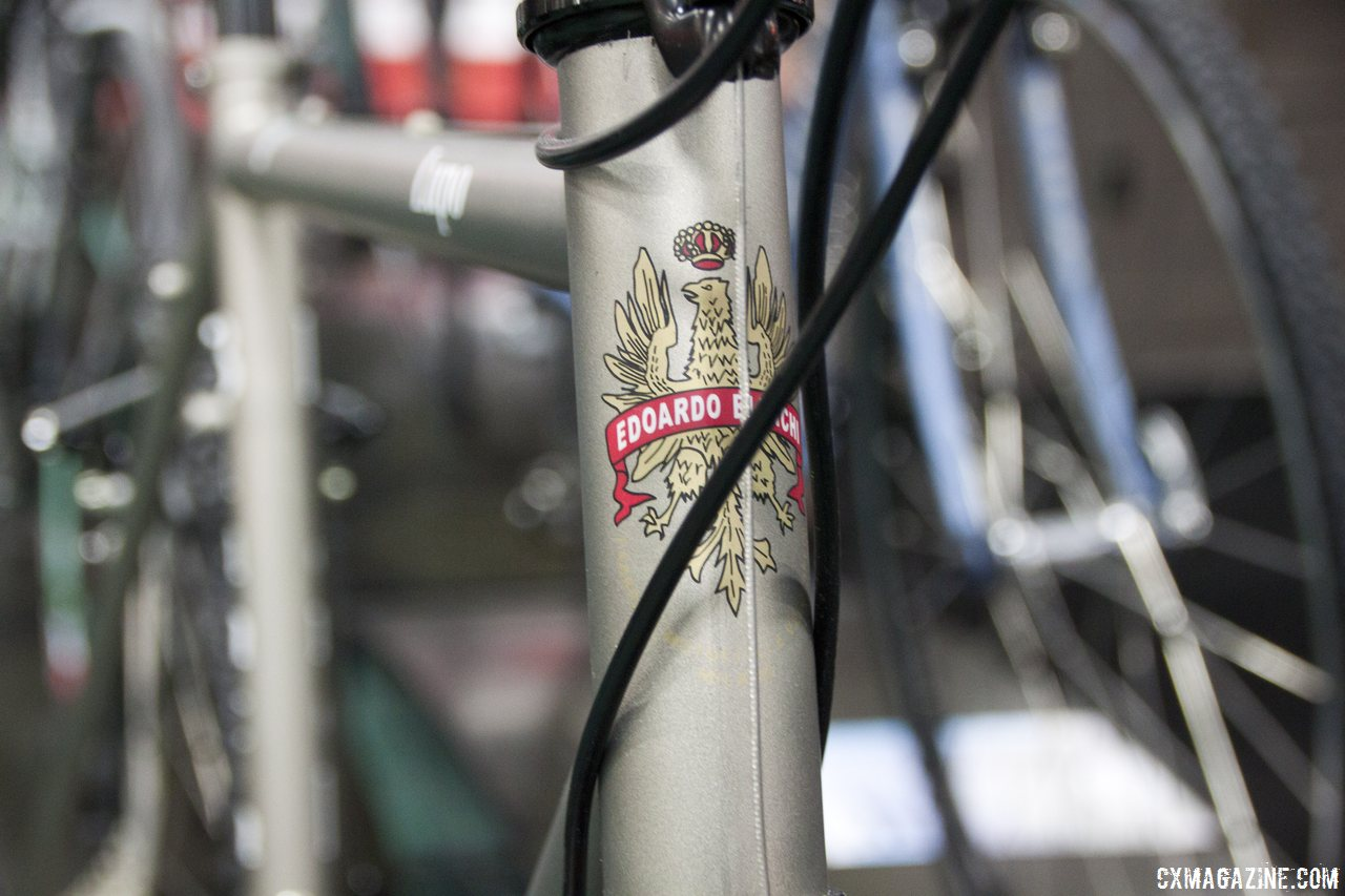 The Lupo boasts the same steel frame as the Volpe with a more affordable build. Bianchi 2014 Lupo. © Cyclocross Magazine