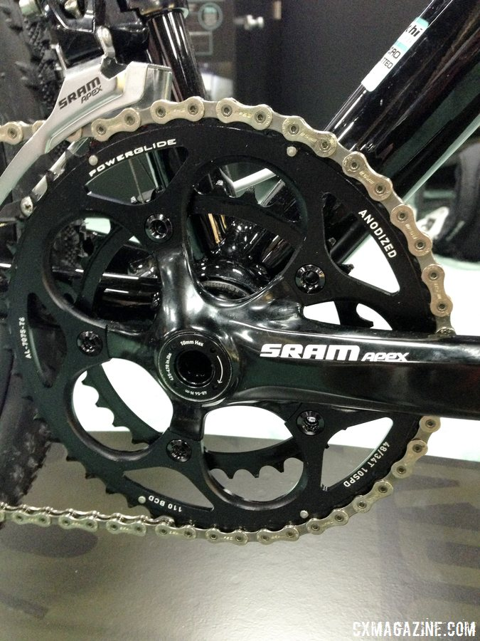 48/34 chainrings give the Bianchi 2014 Zurigo versatility. © Cyclocross Magazine
