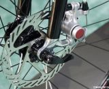 Avid BB5 mechanical disc brakes on the Bianchi 2014 Zurigo. © Cyclocross Magazine