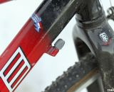 The front derailleur barrel adjuster was left on even though the bike is currently set up with a single front ring. © Cyclocross Magazine