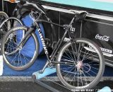 Stybar also has this stealth black, pump-equipped Crux for riding the rollers and spinning on the road. ©Thomas van Bracht