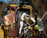 Riding the run-down at Bilenky Junkyard Cross. © Cyclocross Magazine