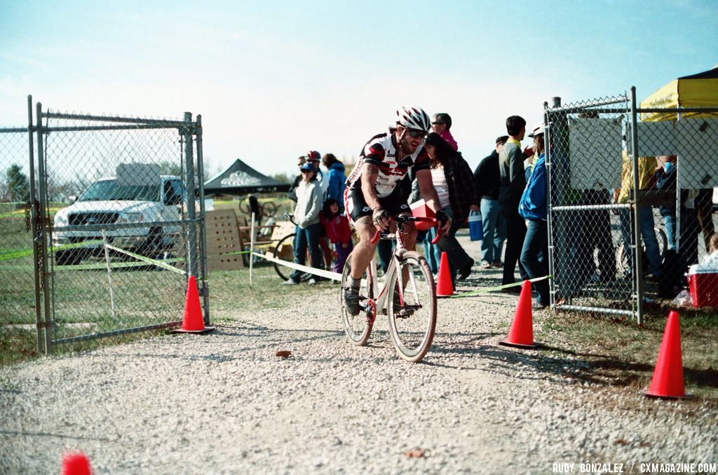 Andrew Lyles, like a few other riders, did not finish due to a crash; the gravel got a lot of people that day.© Rudy Gonzalez